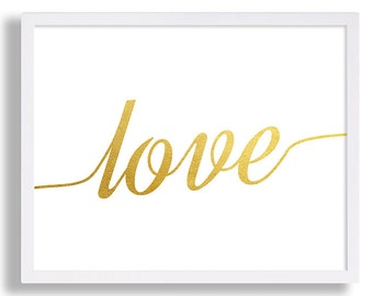 Love Art Print Typography Print Love Poster Faux Gold Foil Decor Love is All I Love You Bedroom Art Print Interior Design Modern Art Pop Art