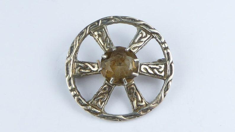 Edinburgh hallmarks Antique vintage Robert Allison Scottish silver brooch