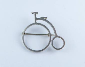 Vintage Silver Penny farthing brooch - Fully hallmarked 1982