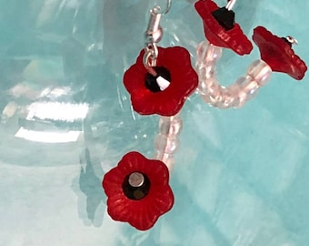 Pretty Lucite Poppy Earrings