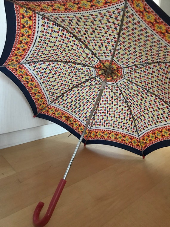 Vintage children's umbrella, for girls, floral, 19