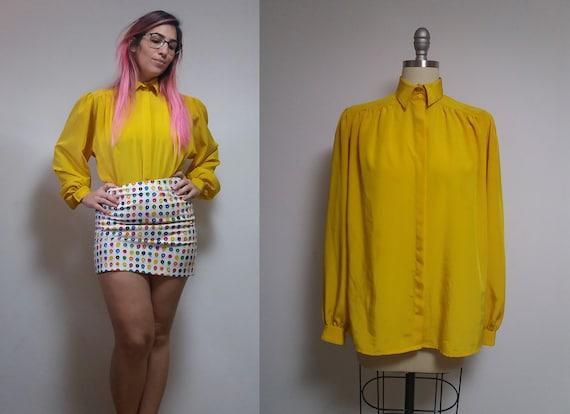 Vintage yellow edwardian blouse