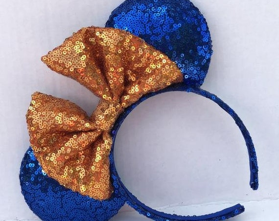 Gator (Opposite) Sequin Minnie Mouse Ears Mickey Mouse Ears Glitter Mickey Ears Sequin Mickey Ears - MADE TO ORDER