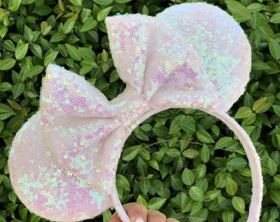 Unicorn Sequin Minnie Mouse EarsMickey Mouse Ears Glitter Mickey Ears Sequin Mickey Ears - MADE TO ORDER