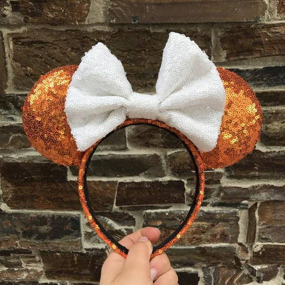 Candy Corn Sequin Minnie Mouse Ears