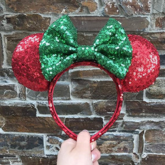 Christmas Sequin Minnie Mouse Ears