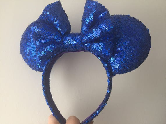 Royal Blue Sequin Minnie Mouse Ears Mickey Mouse Ears Mickey Ears - MADE TO ORDER