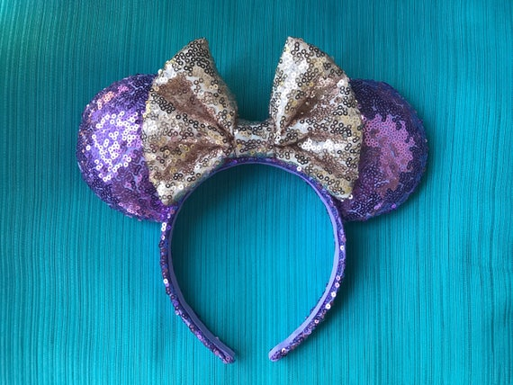 Rapunzel Sequin Minnie Mouse Ears Mickey Mouse Ears Glitter Mickey Ears Sequin Mickey Ears - MADE TO ORDER