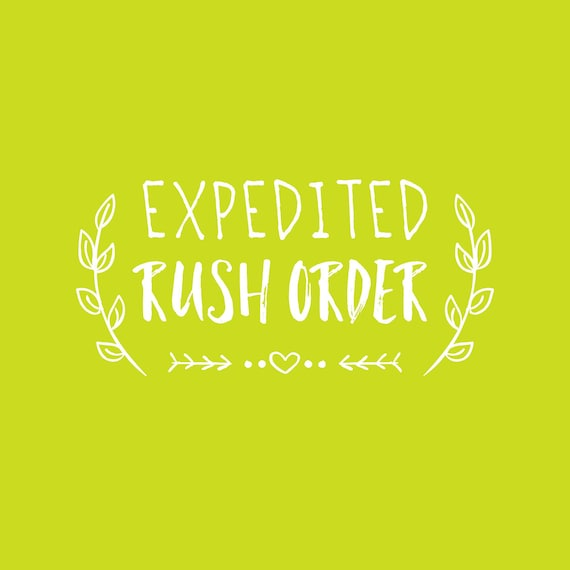 Expedited Rush Order Payment - Read Description