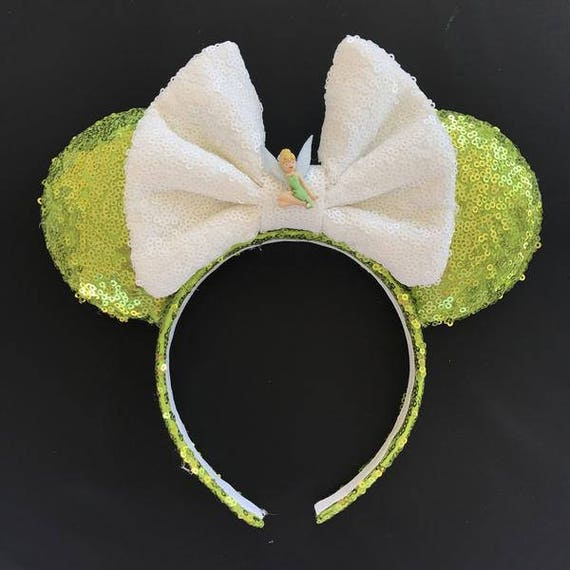 Tinkerbell Sequin Minnie Mouse EarsMickey Mouse Ears Glitter Mickey Ears Sequin Mickey Ears - MADE TO ORDER