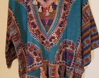 11535ab6466c9 Vintage Batik Dashiki Top