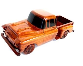 1957 Chevy Stepside Truck, Wood Truck, Birthday Gift, Wood Gift, Desktop, Wood Replica, Memorabilia