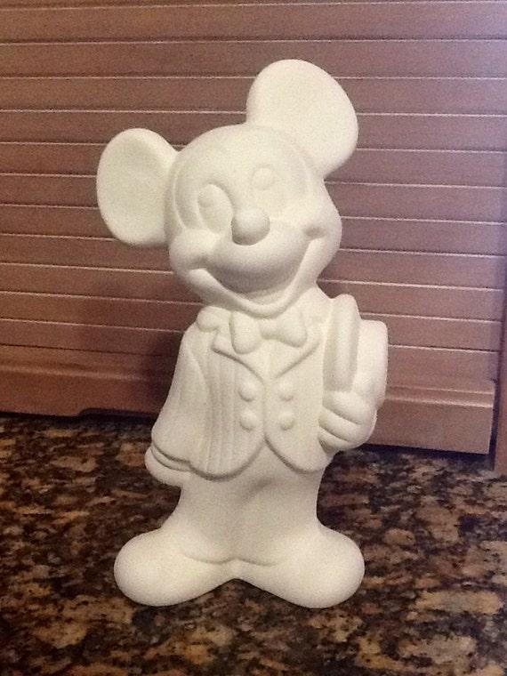 Mickey Mouse Disney estatuilla cerámica bizcocho listo para   Etsy