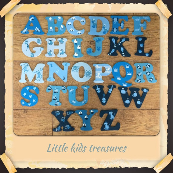 "Personalised Letter 8cm Timber Door Letters Crafts /""F/"" Kids Room Decor"