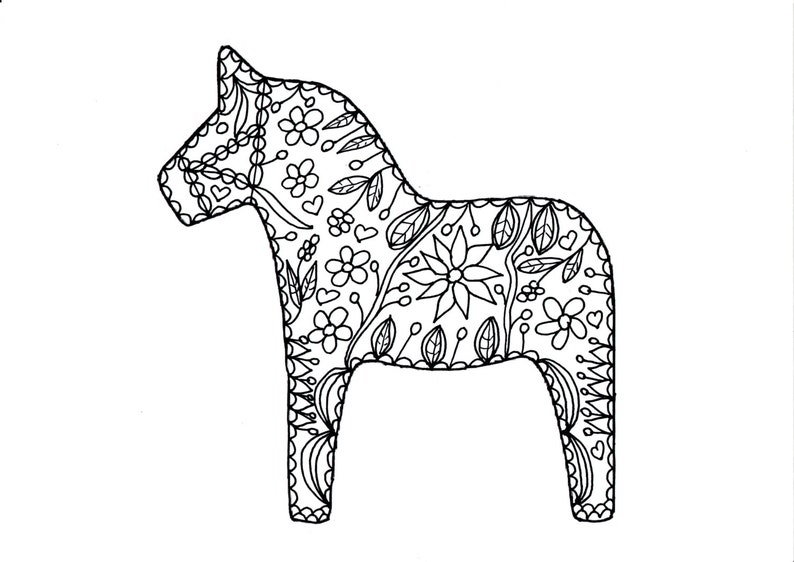 Art Therapy Adult Coloring Page Coloring Sheet Paint A Etsy