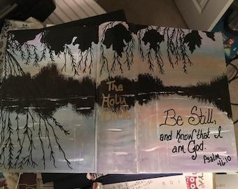Hand painted ESV Interleaved Journaling Bible