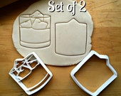 Set of 2 Whiskey Tumbler Glass Cookie Cutters Multi-Size