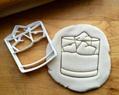 Whiskey Tumbler Glass Cookie Cutter Multi-Size Dishwasher Safe Available