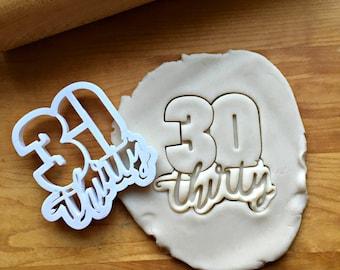 3D Printed 472 Fondant Cutter 30  Cookie Cutter