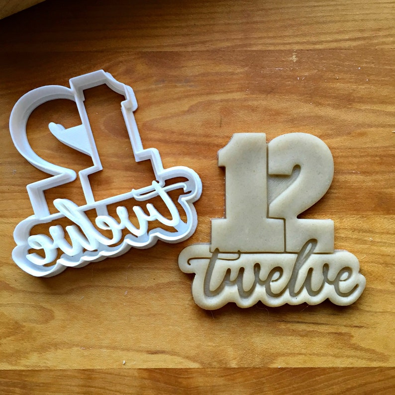 Set of 6 Lettered Number Cookie Cutters 10-15Multi-SizeDishwasher Safe Available