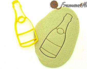 Champagne Bottle Cookie Cutter/Multi-Size