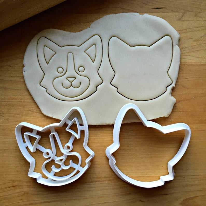 Set of 2 Welsh Corgi Dog Cookie CuttersMulti-SizeDishwasher Safe Available