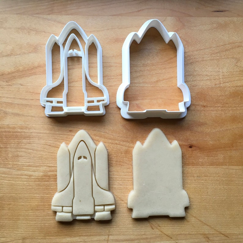 Set of 2 Space Shuttle Cookie CuttersMulti-Size
