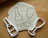 Champagne Bottle and Glass Cookie Cutter Set Multi-Size