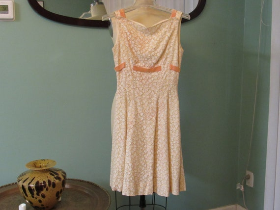 Vintage '50's French Brocade Couture Dress