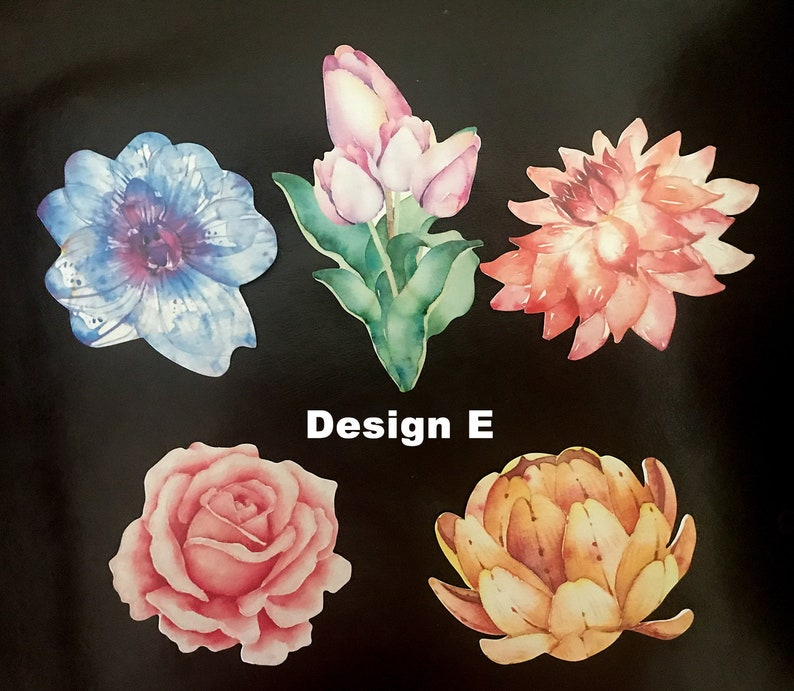 Watercolor Flower Greeting Card Flower Postal Card 7014 5 Flower Postcard Pack,Floral Gift Tag
