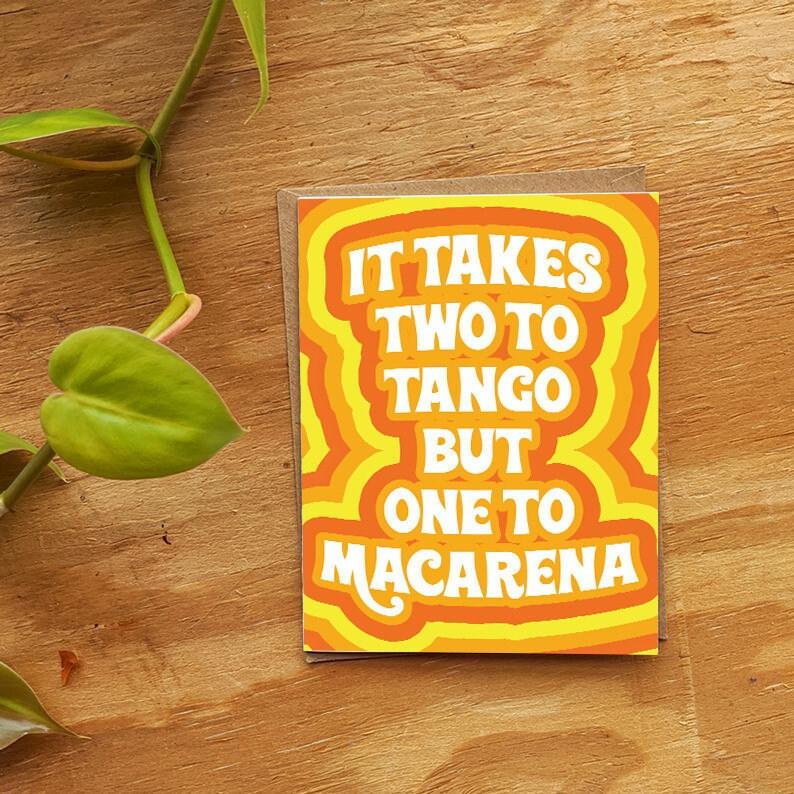 it takes two to tango breakup birthday greetings card