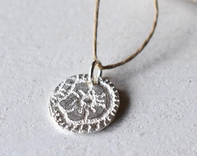 Flower Coin Pendant