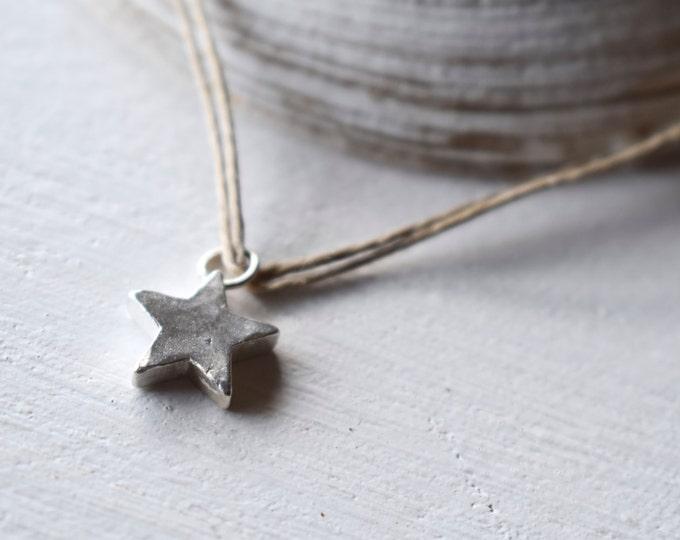 "Pendant ""Star"" silver 925. Handmade."
