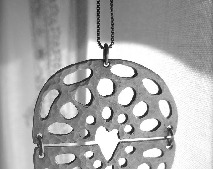 "Pendant ""True Love"" silver 925. Handmade."