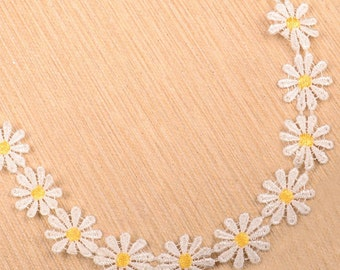 White Flower Choker Necklace