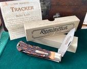 Vintage Remington UMC R1306 Delrin staghorn. Tracker Bullet knife