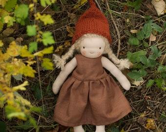 Waldorf gnome doll 30 cm
