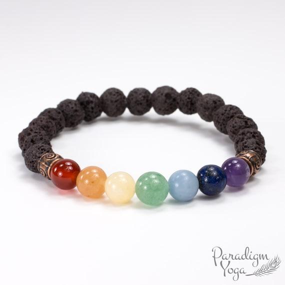 2019 Fashion Black Lava Stone Jewelry Beads Stretch Energy Yoga Gift Bracelets