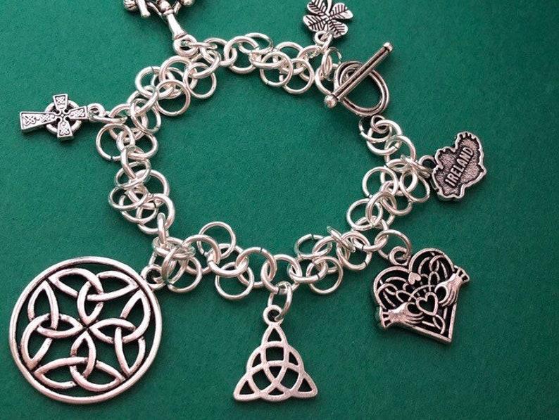 bd9647022 Irish Charm Bracelet Celtic Charm Bracelet Irish Jewelry | Etsy