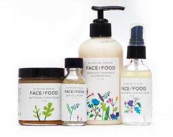Men's Skincare Set/Natural Shaving Cream/Face Wash/Moisturizer/Organic Men's Skincare/Natural Skincare