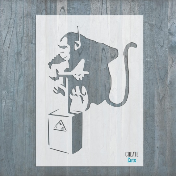 Banksy Affe Zünder Schablone Haus Wand Kunst Dekor Vorlage