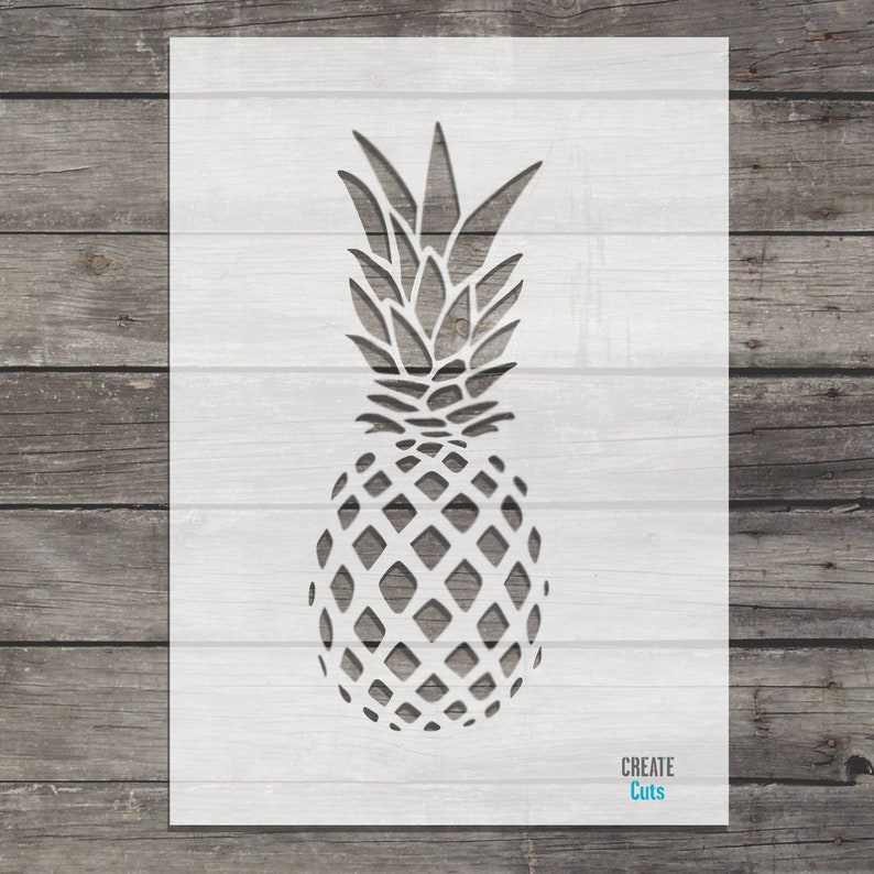 Pineapple STENCIL for home wall interior decor  reusable craft airbrush stencil