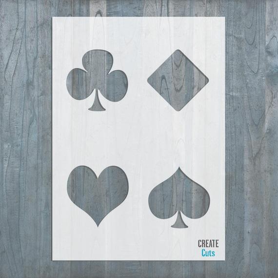 Spielen Poker Karten Schablone Herz Pik Karo Kreuz Symbole | Etsy