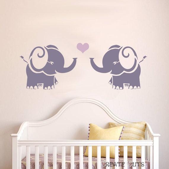 Elefant wiederverwendbare Schablone für Kinderzimmer | Etsy