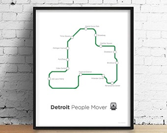 Detroit people mover | Etsy