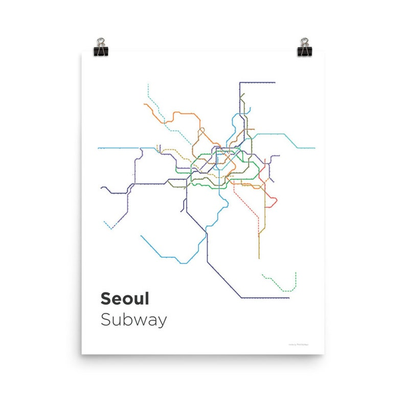 Subway Map Paper Products.Seoul Subway Map