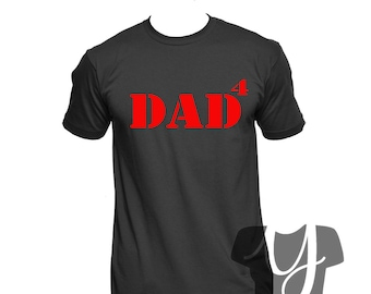 a71e21ee Dad Shirt, Fathers Day Gift, Dad 4, Dad of Four, Dad Gifts, CHOOSE shirt  Color, CHOOSE Text Color, Custom Dad Shirt, Personalized Dad