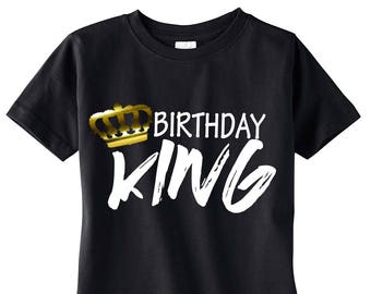 Birthday King Shirt, Boy's Birthday Shirt, Birthday Boy Shirt, Birthday King, Birthday Party, Birthday Outfit