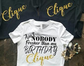 c72b5db1d Birthday Party Shirts, Birthday Group Shirts, Birthday Clique Shirts,  Birthday Squad, Birthday Click, I'm With The Birthday Girl,