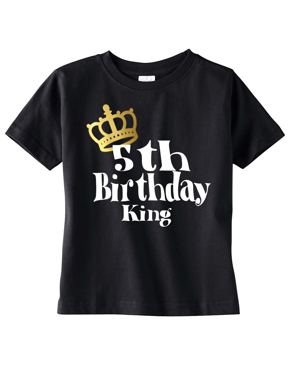 Boys 5th Birthday Shirt Boy King